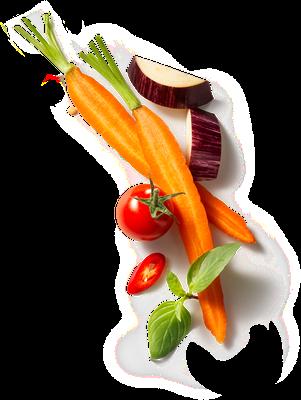 carrots eggplant tomato