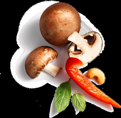 rode paprika  / Mushroom / cashew
